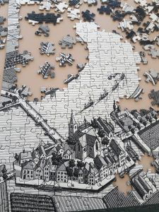puzzle of town